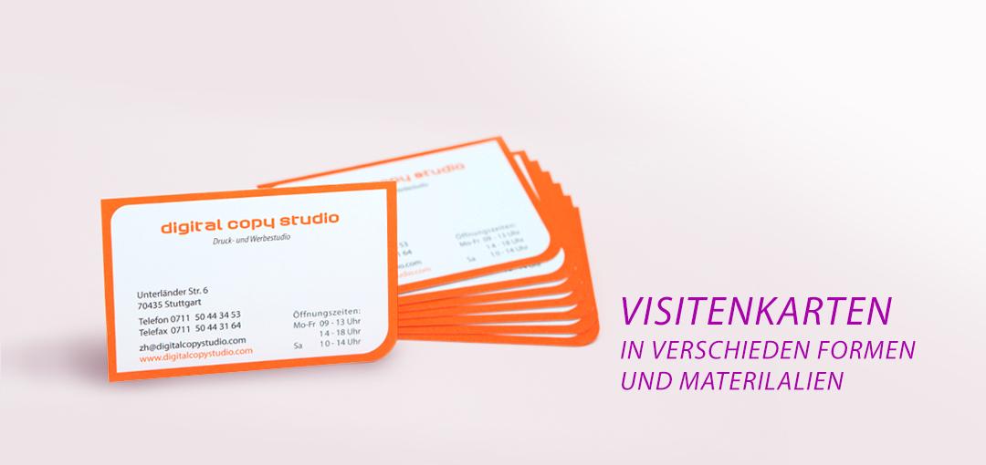 Visitenkarten In Allen Varianten Und Formen Schnell Und